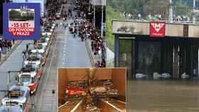 Do metra se vylila třetina rybníka Svět: Povodeň 2002 ochromila i tramvaje