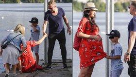 Těhotná Agáta na náplavce: Manžel Kuba ji musel sbírat ze země