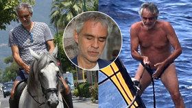 Aktivní pěvec Andrea Bocelli (58): Že nevidím? A co má být?! Zvládne surfovat, jezdit na kole i na koni