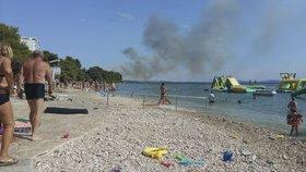 Evakuace a uzavřené dálnice: Chorvatsko dusí požáry