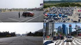 Jako nebe a dudy! Fotograf zachytil rozdíly mezi Severní a Jižní Koreou