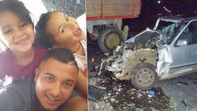 Holčičky ze srážky s traktorem: Táta se modlí, aby Klaudinka (4) viděla a mluvila, Kája (7) je už doma