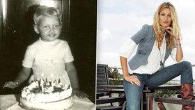 Maxová pobavila fotkou z dětství: Vypadala jako chlapeček s výrazným nosíkem
