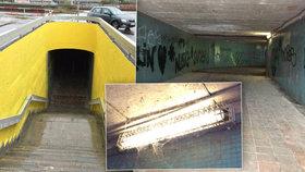 Vymalovali bydlení bezdomovcům? Podchody u Vltavské by radnice nejradši zasypala