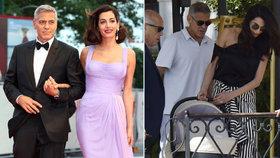 Rodinka na filmovém festivalu: Clooneyovi ovládli Benátky