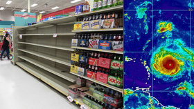 """""""Připravujeme se na nejhorší."""" Na Floridě kvůli hurikánu Irma vybrakovali obchody"""