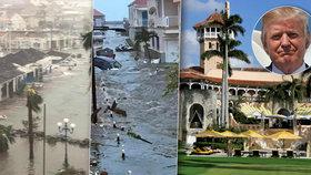 Zkáza v Karibiku: Hurikán Irma poničil i Trumpovo letovisko a ohrožuje jeho klub