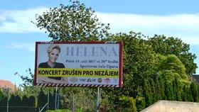 Pořadatel koncertu Heleny Vondráčkové vylepil na plakáty: Zrušeno pro nezájem!