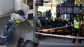 Teror v londýnském metru: Vybuchla taška, ze které trčí dráty. Zranění mají popálené tváře