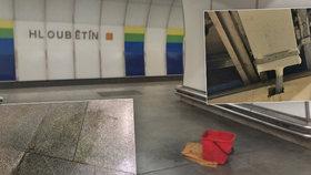 Konec kýblů v metru na Hloubětíně? Kapání ze stropu vyřešil dopravní podnik po svém