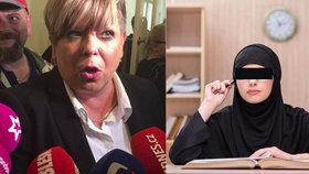 Spor o zakázaný hidžáb studentky v pražské škole: Soud kauzu zastavil, škola se chce ale soudit dál