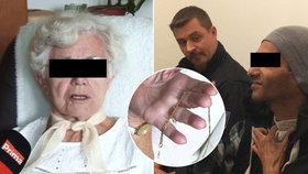 Přepadávač (37) seniorek u soudu: Babička (88), které strhnul řetízek, ho chytila, odsedí si rok
