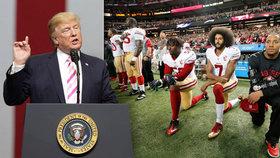 """Trump se obořil na sportovce a mluví o zk*rvysynech: """"Zavřete hubu a hrajte"""""""