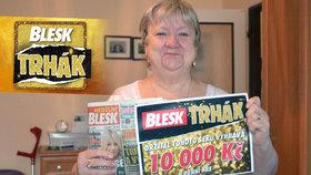 Blesk odměnil věrnou čtenářku z Chvaletic: 10 tisíc padne na narozeniny!