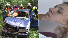Dominika skončila po nehodě v rokli: Zavolala 155, pak ztratila vědomí! Záchranáři ji nemohli najít