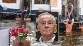 Exkluzivní záběry záchrany Třísky (†80)! Takhle tahali herce z vody...