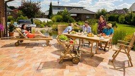 Údržba zahradního nábytku příliš času nezabere
