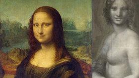 Da Vinci viděl zřejmě Monu Lisu i bez šatů: Ve Francii našli její nahý náčrtek