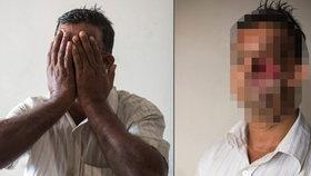 Muži urval tygr obličej: Ze zohyzděné tváře mu trčí zuby