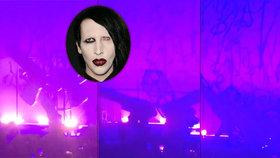 Smůla strašidelného Marilyn Mansona: Spadly na něj obří pistole, skončil v nemocnici