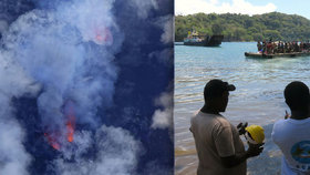 Další katastrofa: Sopka Manaro se chystá k výbuchu. 11 tisíc lidí prchá z ostrova