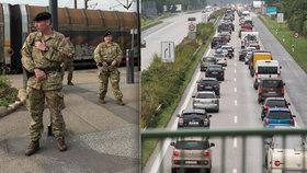 Strach z uprchlíků i teroristů: Dánskou hranici s Německem začali střežit vojáci