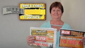 Bude nový koberec! Eva Benková (64) z Opavy vyhrála v Trháku 10 tisíc