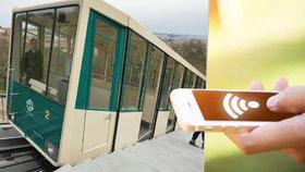 V lanovce na Petřín bude wifi: Prahu připojení vyjde na 2,3 milionu