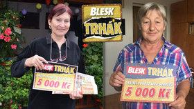 Výherkyně Trháku Jana Beková (63) a Květa Iralová (69): Trhly a vyhrály 5000 korun!