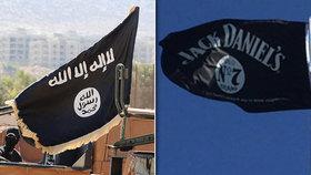 Muž si pověsil před byt znak whiskey Jack Daniels. Sousedi si ho spletli s vlajkou ISIS