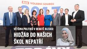 Hidžáby do škol nepatří, shodla se většina politiků v debatě Blesku. A co křížky na krku?