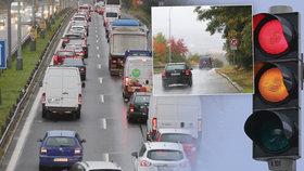 Na Objízdnou ulici se vrací automobilový život. Dopravu umožňuje provizorní semafor