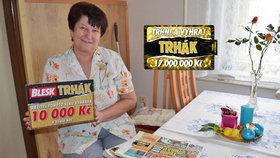10 000 Kč v Trháku vyhrála Růžena Kaucká (71) ze Zdic: Co koupí? Dálniční známky pro rodinu!