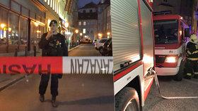 Byt v centru Prahy je plný chemikálií! Policie evakuovala celý dům a uzavřela obchody, lidé jsou už doma