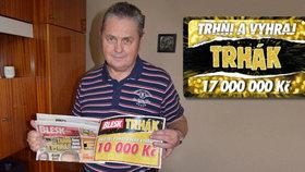 Ve hře Trhák získal 10 000 korun Václav Kolář (73) z Opavy: Za výhru si pořídí nové nářadí