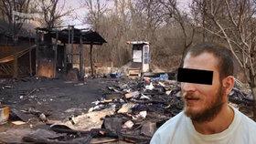 Vražda v chatové osadě v Brně: Důchodce (†70) ubodal a podpálil kvůli kalhotám, tvrdí obžaloba