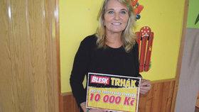 Marie Blažová (59) z Havířova vyhrála 10 tisíc korun:Koupí dárky vnoučatům...
