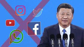 Cenzura internetu přitvrdila, komunisté v Číně mají sjezd. Si Ťin-pching dotahuje Maa
