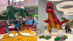 Lego postavilo ráj: Má miliony kostek, roboty a dinosaury, které stavěli Češi