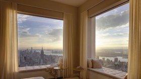 Nebeský luxus: Takhle vypadá byt ve výšce 400 metrů v New Yorku