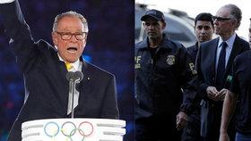 Skandál v Riu. Šéf Brazilského olympijského výboru podplácel, z vězení je venku