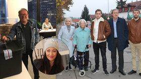 České celebrity vyrazily k urnám: Žilková s celou rodinou, Janda volil z Ameriky!