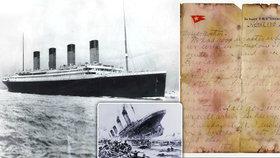 Dopis z Titaniku byl vydražen za neuvěřitelných  3,6 milionu. Byl napsán den před potopením