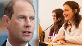 Do Česka zavítá britský princ Edward. Syn Alžběty II. ocení úspěšné studenty