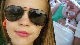 Zuzku (13), kterou smetlo auto, operovali: Nevypadá to dobře, říká maminka