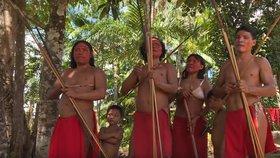 """""""Vydržíme do posledního člověka."""" Amazonský kmen brání těžařům v zničení pralesa"""