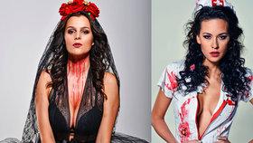 České hvězdy slaví Halloween: Krev, hrůza i krása!