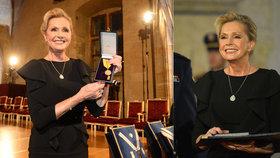 Zeman udělil Heleně Vondráčkové státní vyznamenání: Na slavnost si nechala ušít šaty s diamanty!
