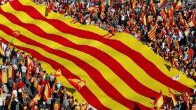 V Barceloně demonstruje přes milion lidí. Chtějí jednotu Španělska