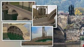 VIDEO: Badatelé odkryli tajemství Karlova mostu: Takhle ho ve 14. století postavili